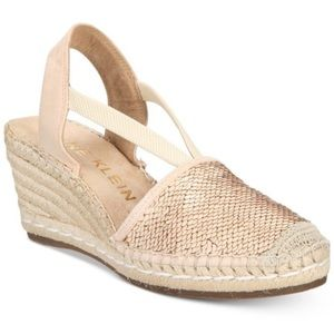 Ann Klein Abbey Sequin Espadrille Wedges